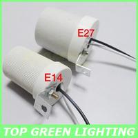 2 x Ceramic LED Lamp Socket E27 Lamp Holder for LED Light Cap E27 Socket Ceramic Base Ceiling Mounted Lamp Socket with 20cm Wire