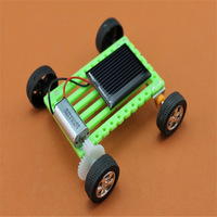 Ultra- miniature mini solar car gadget technology small production DIY toy for learning & education 20pcs/lot
