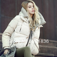 2013 loose with a hood medium-long tooling plus size female down coat outerwear jc4109