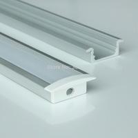 20m a lot, 1m per piece, Anodized diffuse cover led aluminum profiles light AP2408