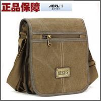 Free Shipping Aerlis canvas shoulder bag casual bag messenger bag male