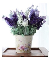 Free Shipping! 6PCS/ Lot New Arrival High Quality Lavender Flower Artificial Plants,Romantic Gift,Home/Wedding Decor