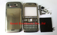 Silver replacement mobile phone full housing for nokia e72 cellphone repair cover case faceplates+keypad+spare parts