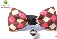 2014 Bow Tie Pet Bow Pet Collar Dog Pet Bell Cat Bow Tie Pink,Blue Color Free Shipping Z0092