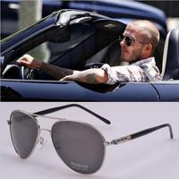 Hot Free shipping Classic retro Glasses brand designer Beckham sunglasses men  brand LOGO Frog mirror