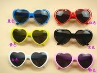 free shipping Peach heart sunglasses fashion sunglasses sun-shading beach mirror star sunglasses