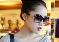 free shipping 2014 female fashion sunglasses big frame glasses fashion vintage sunglasses