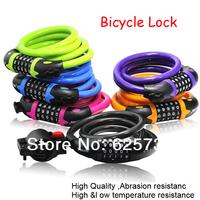 Free Shipping Bike Bicycle Cycling Motorcycle Riding Password Lock -- 5 Number Safty Anti-theaf Bike Lock - Dia. 12 x L1200 mm
