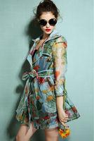 Novelty trench coat/2014 fashion desigual women coat with sashes