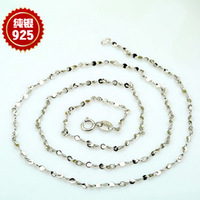 Genuine 925 Sterling Silver Necklace Chain Vintage Neck Jewelry Women Choker