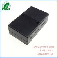 20pieces small black plastic enclosure box  plastic box for electronic project electronic enclosure73*43*24mm 2.87*1.69*0.94inch
