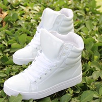 2014 New Arrival Fashion Bright Red White Black Green Color PU Patent Leather Women Sneakers Casual Sport Shoes