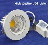 wholesale 50pcs/lot  7W recessed led downlights COB LED lamps cabinet wall bulb Ceiling Spot Light LED Lamp 7W