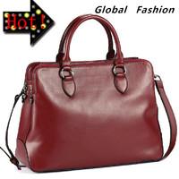 Free Shipping 2014  women's  trend of fashion solid handbag cowhide genuine leather cross-body messenger  handbags xqw253