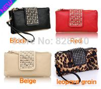 Women's wallet day clutch bag fashion rivet long design wallet women's bags