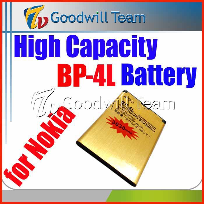 Free shipping High capacity replacement BP-4L battery For Nokia E63 E71 E72 E73 N97 Batterie Batterij Bateria 3030mah 3.7V(China (Mainland))