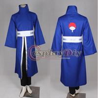 Free Shipping Customized Anime Naruto Akatsuki Ninja Tobi Obito Madara Uchiha Cosplay Costume