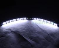 "2 x 30CM 12"" Black 1210 32-SMD 12V Car Truck Flexible Knight Rider LED Scanner Decoration Strobe Flash Strip Light White"
