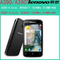 origial lenovo A390T A390 phone CPU SC8825 daul core 1024Mhz  NO support GPS Ram 512MB Rom 4G  5.0MP camera