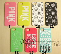 Fashion Victoria's  Silicone Case for iPhone5 5S 4 4s 3D Skull Leopard PINK Secret Silicon Cover Case Free Shipping 10pcs/lot