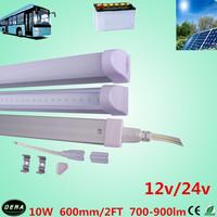 free shiping 1pcs/lot T5 led  tube 10w solar tube700-900lm led solar shed light  2ft light bulb 12v /24v/36v 600mm led bus lamp