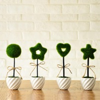 High quality rustic green high artificial flower overall floral plants small bonsai 9.8