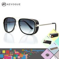 AEVOGUE with case brand Iron Man Downey Goggle Sunglasses men Most Popular Sun Glasses gafas/oculos de sol UV400 AE0075