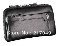 Teemzone 3216 Hot Fashion business men handbag 100% First layer of cow skin genuine leather casual man day clutch bag