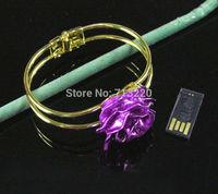 Cute Beautiful Rose Jewelry  Bracelet USB Drive 4GB 8GB 16GB 32GB USB 2.0 Flash Pen Drive Memory Stick Brand New Good Quality