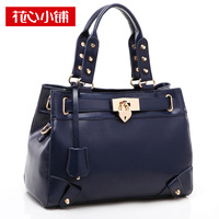 Promation Fashion lock button 2014 rivet one shoulder bag  women's handbag cross-body bag - 10590  clutch