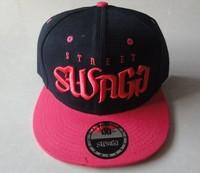 Hiphop Street Swagg Snapback hats & caps black pink most popular men & women classic adjustable strapback cap freeshiping  !