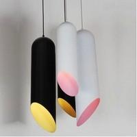 Factory wholesale Lamp brief modern lighting fashion personality aluminum cylindrical pendant light