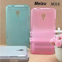 2014 new phone Meizu mx4 Case mx4 cover case Transparent Silicone Case For Meizu phone Tpu Soft Case 4 colors Free Shipping