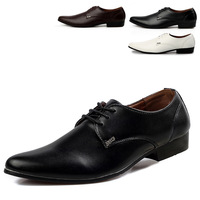 Pointed Toe Classic Design Men Dress / Business Leather Shoes EU 39-44 British Style Lace-up Man Casual Oxfords