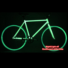 Noctilucent Green Complete Fixed Gear Bike / Night Bike , Frame( 50cm) and Rim with White Tyre (700X23C) , FIXEE 2.0(China (Mainland))