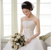 Free shipping new arrival wedding dress 2014 tube top bandage Dream Lace princess sweet slim