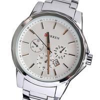 Relogio Masculino Curren Brand Men Full Stainless Steel Watches Date Calendar Men Quartz Sports Wrist Watch Free Shipping