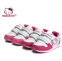 Free shipping! 100% original brand Hello Kitty velcro children shoes girls peppa sports shoes kids sneakers athletic shoes 14016
