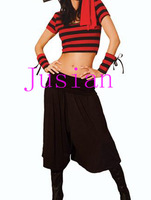 Free Shipping Women Sexy Costume Dress Exotic Apparel Cosplay Wear Black/Red FE1659