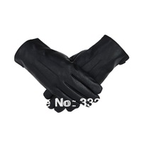 New Men's fashion winter synthetic leather gloves motorcycle gloves with fur inside Free shipping  BWST-02B