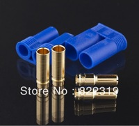 10sets 1 Male/1 Female Connector 2 Male / 2 Female 5MM bullet Plugs adapter EC5 Style + Register free shipping
