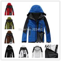 HOT Outdoor Mens Waterproof Windproof Soft Shell Fleece Ski Jacket (6 Color) S-XXL Factory Wholesale 0042