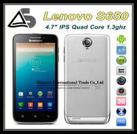 "Multi Languages Support Russian Lenovo S650 3G 960x540px Android 4.2 MTK6582 1.3MHz Quad Core 4.7"" IPS 1GB RAM 8GB ROM"