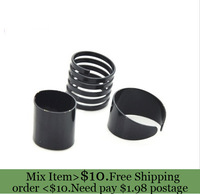 ZH0782 Newest 3 pcs Black Punk Plain Band Midi Mid Finger Knuckle Ring Set  Rock  (min mix order $10)