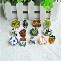Hot sale!3pcs/lot, Free shipping football fan brooch pin/badge with big famous european clubs&national teams' logo fan souvenirs