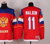 2014 sochi winter Olympic Team Russia red  #11 Malkin ice hockey Jersey ,cheap jerseys Free shipping