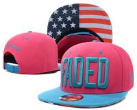 2014 new FADED usa american flag leopard brim adjustable snapback strapback hats and caps for men/women sports hip hop cap 12