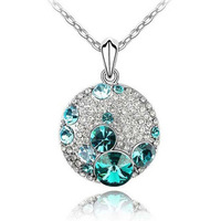Fashion Austria Crystal   rhinestone ball  Mickey Necklace  wholesale