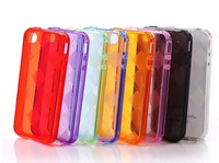 #20140112#  20pcs/lot   Generous Plaid case for iphone 4s mixed color high quality drop shipping