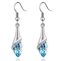 Fashion Austria Crystal  horse eye stone  earrings  wholesale